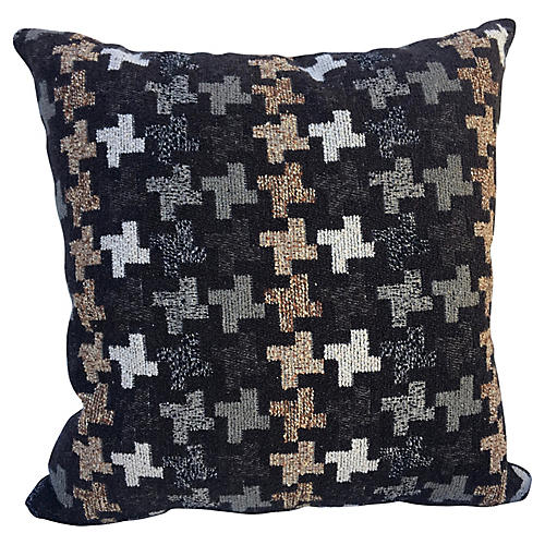 Retro Abstract Chenille Pillow