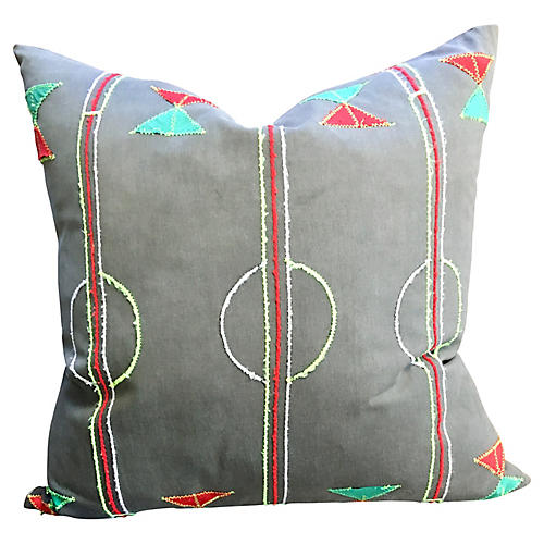 Geometric African Textile, Pillow