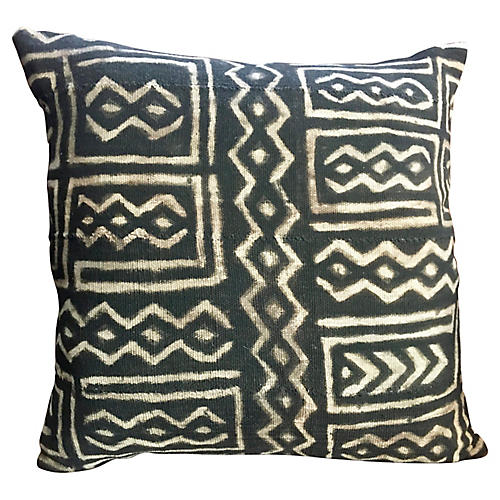 Traditional Mail Mudcloth Pillow