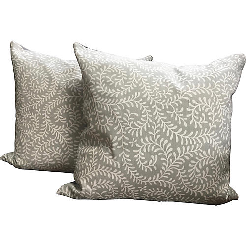 Reverse Kasmuni Pillows, Pair