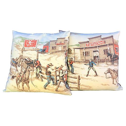 O.K. Corral Pillows, Pair