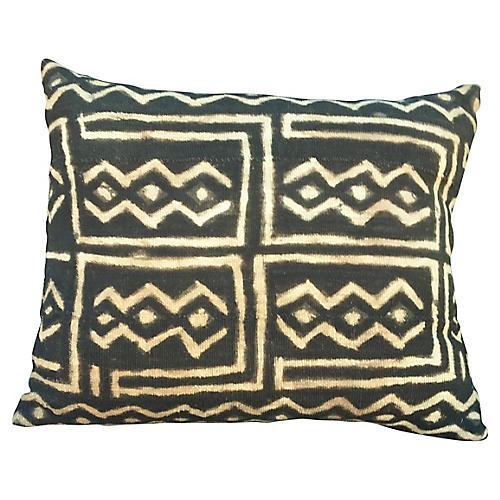 Black & Cream Mud-Cloth Pillow