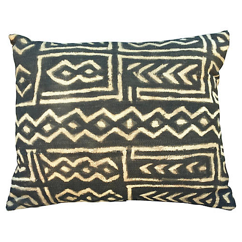 Cream & Black Mud-Cloth Pillow