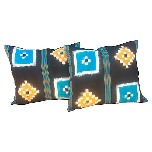 Tribal Geometric Pillows, Pair