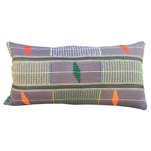 Embroidered Mali Mudcloth Lumbar