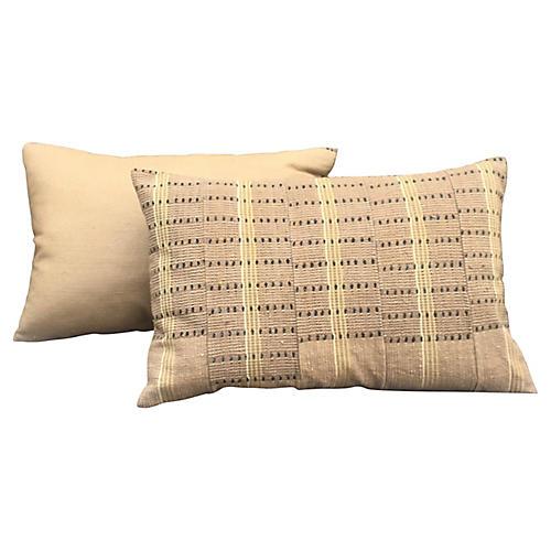Neutral Asoke Lumbar Pillows, Pair