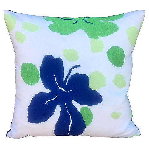 French Mod Floral Pillow