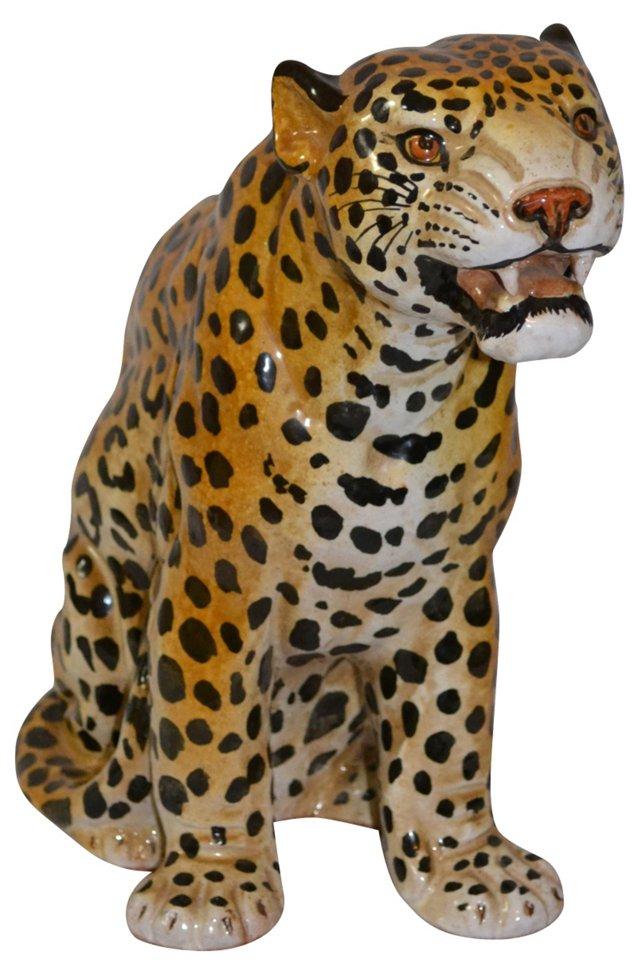 Painted Terracotta Leopard