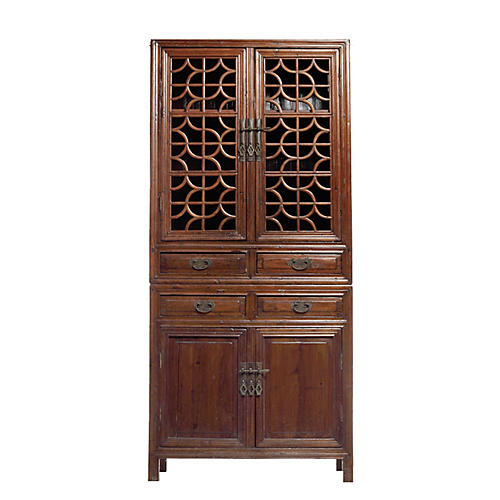 Antique Chinese Fretwork Cabinet