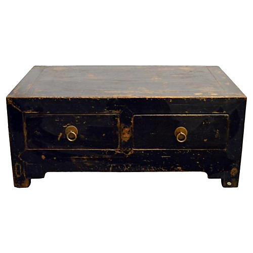 Antique Chinese Low Kang Cabinet