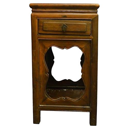 Antique Chinese Brown Nightstand