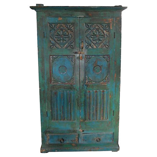 Antique Hand-Carved Goan Indian Cabinet