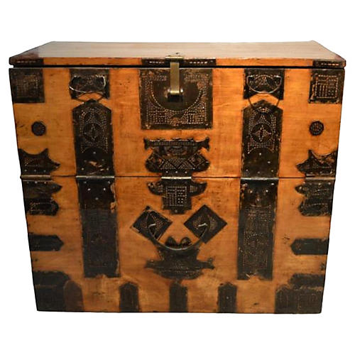 Antique Blanket Storage Chest