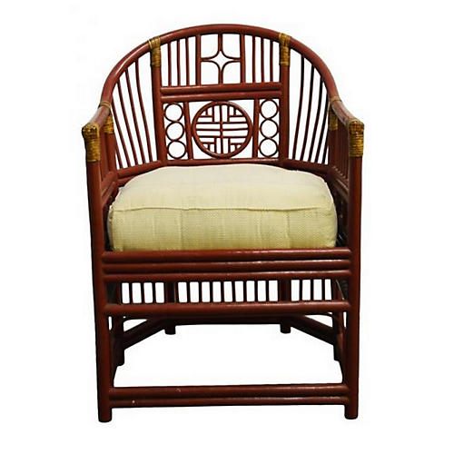 Vintage Burmese Rattan Side Chair