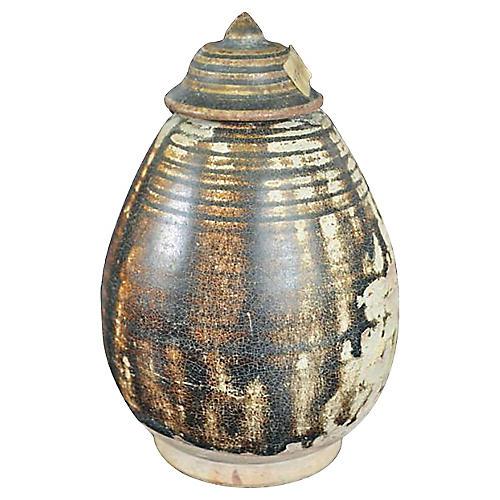 Cambodian Khmer Anker Ceramic Vessel