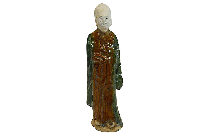 Antique Chinese Ming Terracotta Statue