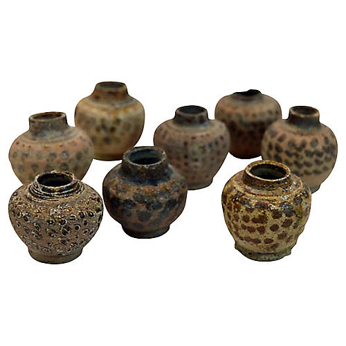 Thai Ceremonial Clay Vessels, S/3