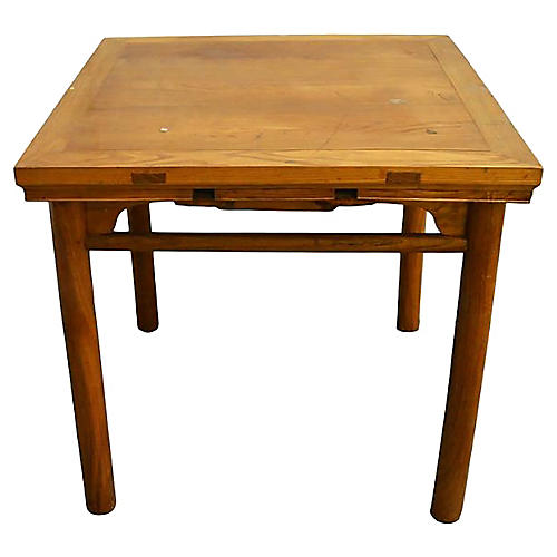 Antique Chinese Mahjong Wood Table