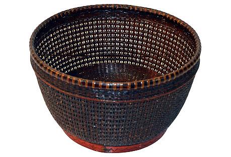Asian Handmade Rattan Basket