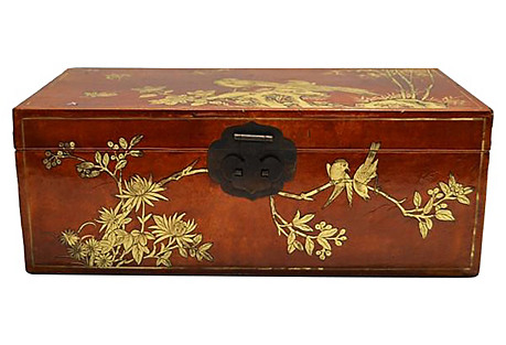 Antique Hand-Painted Document Box