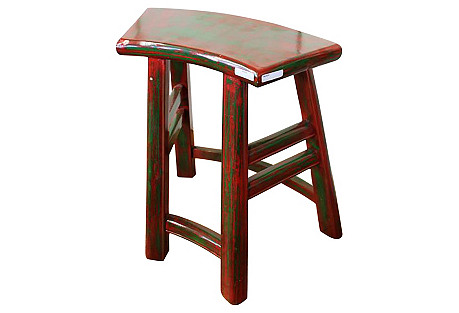 Red & Green Chinese Stool