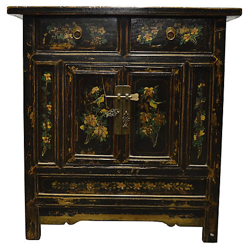 Antique Chinese Hand-Painted Cabinet