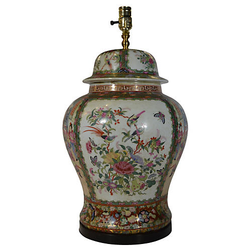 Chinese Hand-Painted Lamp