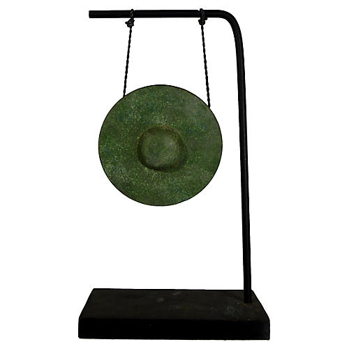 Burmese Tabletop Bronze Ceremonial Gong