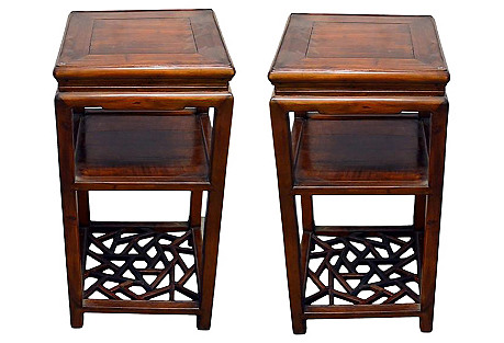 Antique Chinese Tea Tables, Pair