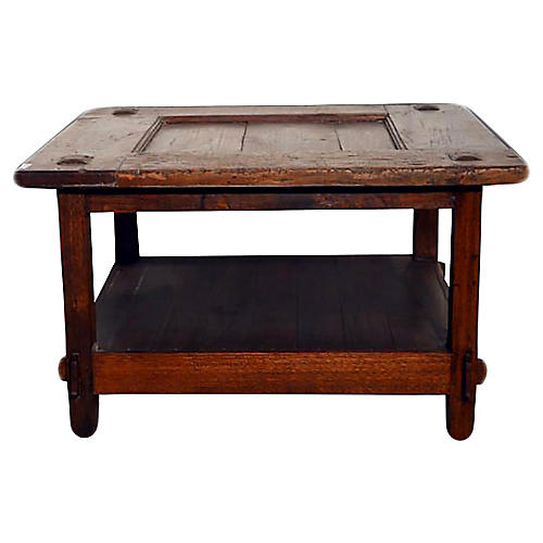 Antique Javanese Teak Coffee Table