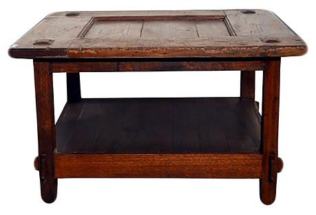 Antique Javanese Teak Coffee Table
