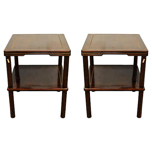 19th-C. Chinese Side Tables, Pair