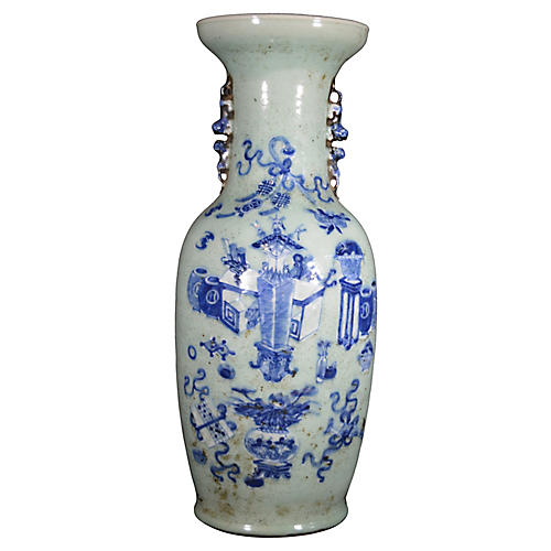 Antique Chinese Hand-Painted Vase