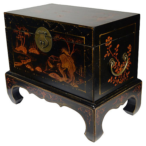Antique Chinese Chinoiserie Dowry Box