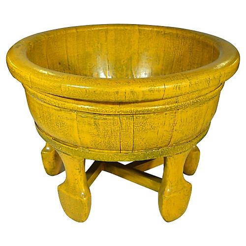 Chinese Yellow Wood Rice Basin