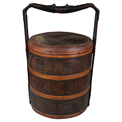 Antique Woven Food Basket