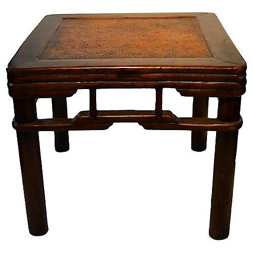 Antique Elm Wood Side Table