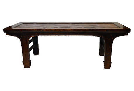Antique Chinese Handmade Wood Bench