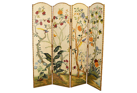 Chinese Floral Room Screen