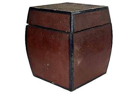 Antique Japanese Concave Storage Box