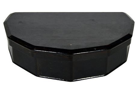 Japanese Demilune Incense Storage Box