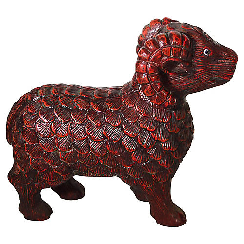 Hand-Carved Ram