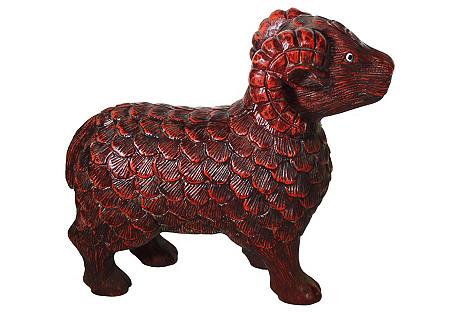 Hand-Carved Ram