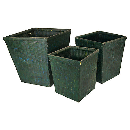 Handwoven Nesting Baskets, S/3