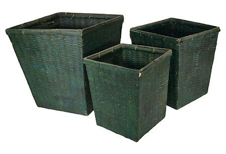Handwoven Nesting Baskets, S/3