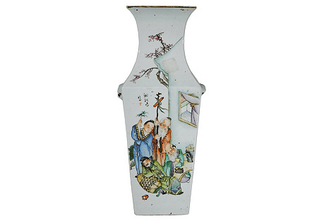 Antique Hand-Painted Chinese Vase