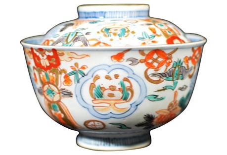 Antique Imari Bowl w/ Cover