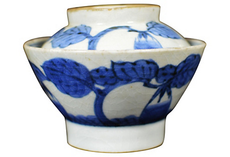 Antique Japanese Blue & White Bowl