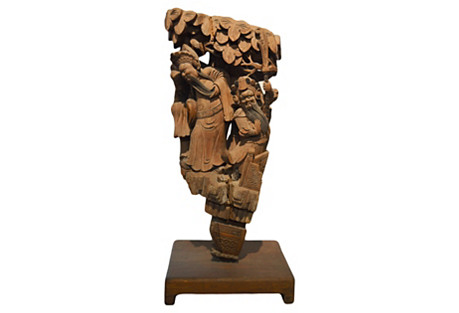 Chinese Hand-Carved Corbel