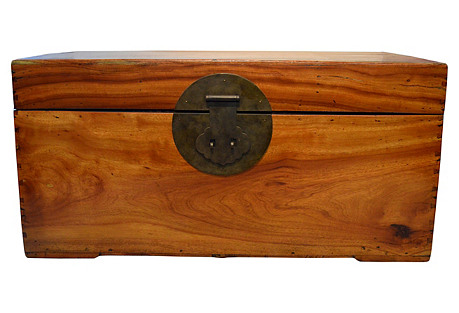Chinese Camphor Wood Blanket Trunk